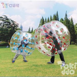 口袋屋蹦床公园泡泡足球,气泡足球,碰碰充气球,团建活动热门网红道具对抗充气球